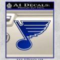 St Louis Blues Decal Sticker Blue Vinyl 120x120