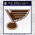 St Louis Blues Decal Sticker Brown Vinyl 120x120