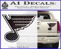 St Louis Blues Decal Sticker Carbon Fiber Black 120x97