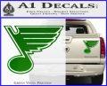 St Louis Blues Decal Sticker Green Vinyl 120x97