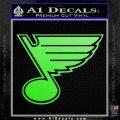 St Louis Blues Decal Sticker Lime Green Vinyl 120x120