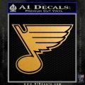 St Louis Blues Decal Sticker Metallic Gold Vinyl 120x120