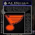 St Louis Blues Decal Sticker Orange Vinyl Emblem 120x120