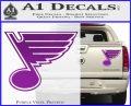 St Louis Blues Decal Sticker Purple Vinyl 120x97