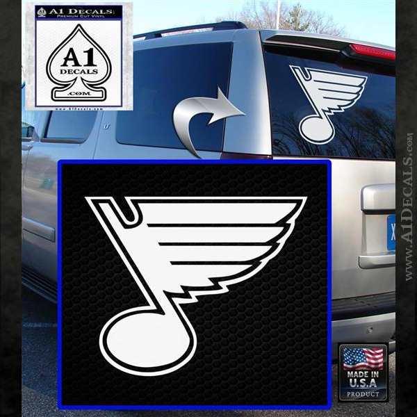 St Louis Blues Decal Sticker White Emblem