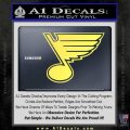 St Louis Blues Decal Sticker Yelllow Vinyl 120x120