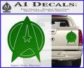 Star Fleet Communicator Badge Decal Sticker 2016 Green Vinyl 120x97