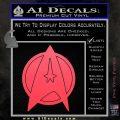 Star Fleet Communicator Badge Decal Sticker 2016 Pink Vinyl Emblem 120x120