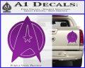 Star Fleet Communicator Badge Decal Sticker 2016 Purple Vinyl 120x97
