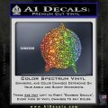 Star Fleet Communicator Badge Decal Sticker 2016 Sparkle Glitter Vinyl 120x120