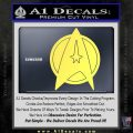 Star Fleet Communicator Badge Decal Sticker 2016 Yelllow Vinyl 120x120