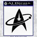 Star Trek Command Orbit Decal Sticker Black Logo Emblem 120x120
