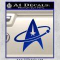 Star Trek Command Orbit Decal Sticker Blue Vinyl 120x120