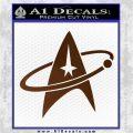 Star Trek Command Orbit Decal Sticker Brown Vinyl 120x120