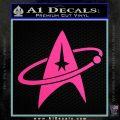 Star Trek Command Orbit Decal Sticker Hot Pink Vinyl 120x120