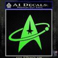 Star Trek Command Orbit Decal Sticker Lime Green Vinyl 120x120