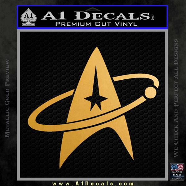 Star Trek Command Orbit Decal Sticker Metallic Gold Vinyl Vinyl