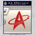 Star Trek Command Orbit Decal Sticker Red Vinyl 120x120