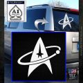 Star Trek Command Orbit Decal Sticker White Emblem 120x120