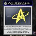 Star Trek Command Orbit Decal Sticker Yelllow Vinyl 120x120