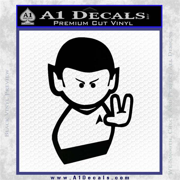 Star trek commander vulcan mr spock decal sticker black logo emblem