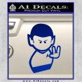 Star Trek Commander Vulcan Mr. Spock Decal Sticker Blue Vinyl 120x120
