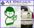 Star Trek Commander Vulcan Mr. Spock Decal Sticker Green Vinyl 120x97