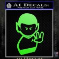 Star Trek Commander Vulcan Mr. Spock Decal Sticker Lime Green Vinyl 120x120