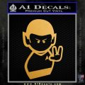Star Trek Commander Vulcan Mr. Spock Decal Sticker Metallic Gold Vinyl Vinyl 120x120