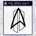 Star Trek Communicator D2 Decal Sticker Black Logo Emblem 120x120