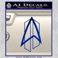 Star Trek Communicator D2 Decal Sticker Blue Vinyl 120x120
