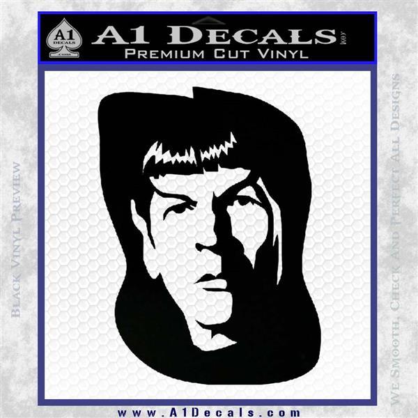 Star Trek Spock DS6 Decal Sticker Black Logo Emblem