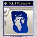 Star Trek Spock DS6 Decal Sticker Blue Vinyl 120x120