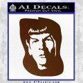 Star Trek Spock DS6 Decal Sticker Brown Vinyl 120x120