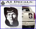 Star Trek Spock DS6 Decal Sticker Carbon Fiber Black 120x97