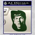 Star Trek Spock DS6 Decal Sticker Dark Green Vinyl 120x120