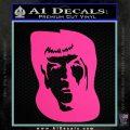 Star Trek Spock DS6 Decal Sticker Hot Pink Vinyl 120x120
