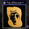 Star Trek Spock DS6 Decal Sticker Metallic Gold Vinyl 120x120