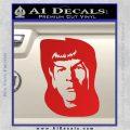 Star Trek Spock DS6 Decal Sticker Red Vinyl 120x120