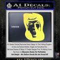 Star Trek Spock DS6 Decal Sticker Yelllow Vinyl 120x120