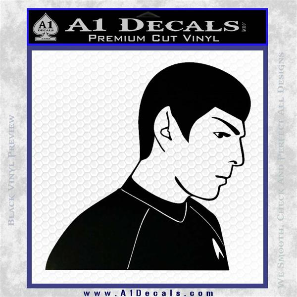 Star Trek Young Spock Decal Sticker Black Logo Emblem