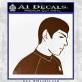 Star Trek Young Spock Decal Sticker Brown Vinyl 120x120