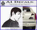 Star Trek Young Spock Decal Sticker Carbon Fiber Black 120x97