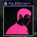 Star Trek Young Spock Decal Sticker Hot Pink Vinyl 120x120