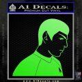 Star Trek Young Spock Decal Sticker Lime Green Vinyl 120x120