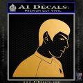 Star Trek Young Spock Decal Sticker Metallic Gold Vinyl Vinyl 120x120