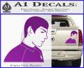 Star Trek Young Spock Decal Sticker Purple Vinyl 120x97
