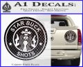 Starbucks Buck Shots Decal Sticker Carbon Fiber Black 120x97