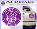 Starbucks Buck Shots Decal Sticker Purple Vinyl 120x97
