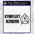 Starfleet Academy Decal Sticker Black Logo Emblem 120x120